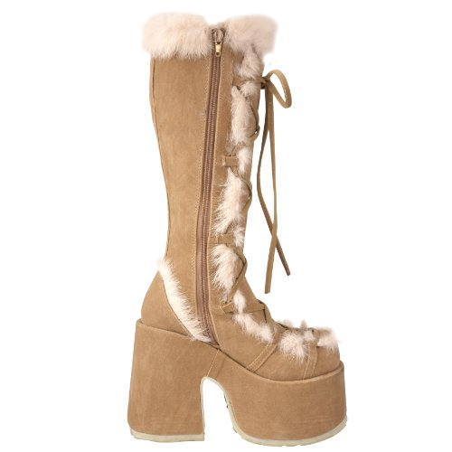 Demonia By Pleaser Womens Camel-311 Boot Cammello