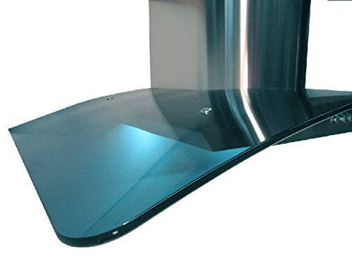 NT AIR Range Hood Wall Mount Curved Blue Glass Stainless Steel KA-148-36