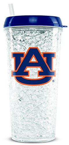 NCAA Auburn Tigers 16oz Crystal Freezer Tumbler with Lid and Straw