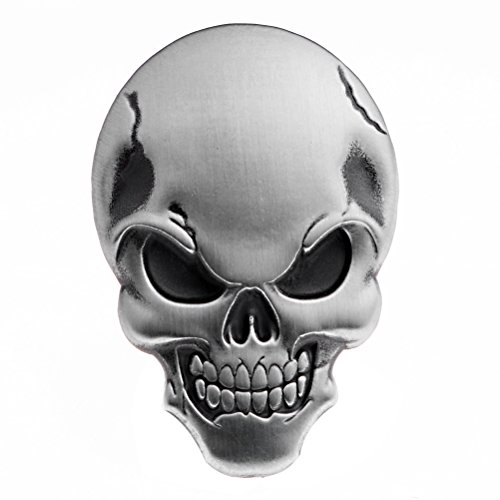 Anzio 1X Metal 3D Skull Demon Bone Badge Emblem Sticker Decal Decoration Tank Fender Fairing for Harley Cruiser Bobber Chopper Sport Bike