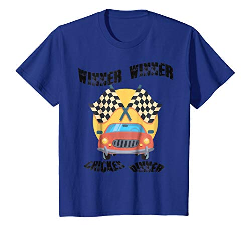 Kids Kids Winner Chicken Dinner Car Racing T-shirt Boys Girls
