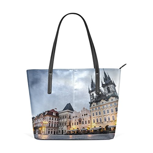 Ethel Ernest Prague Square Womens Purse PU Leather Shoulder Tote Bag (Prague Leather Handbag)
