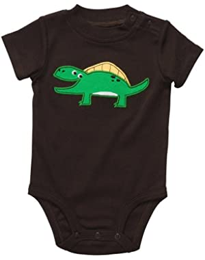 Carter's Dino Smile Bodysuit BROWN Newborn