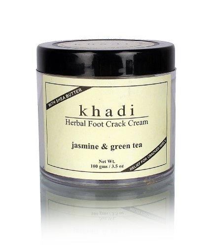 Khadi-Natural-Herbal-Ayurvedic-Jasmine-and-Green-Tea-Foot-Crack-Cream-with-Shea-Butter-100-g