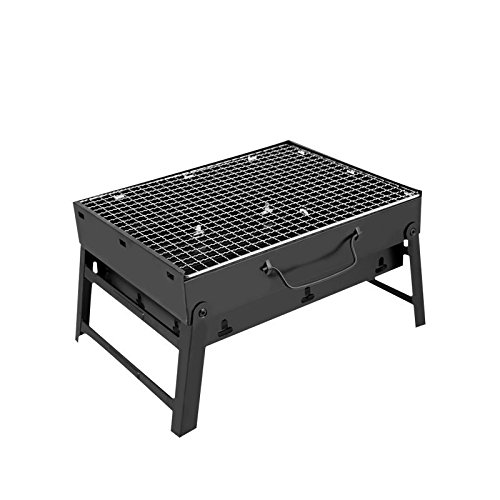 CL FUN Barbecue Charcoal Grill Folding Portable Lightweight BBQ Tools for Outdoor Cooking Camping Hiking Picnics Tailgating Backpacking (Small) by CL FUN