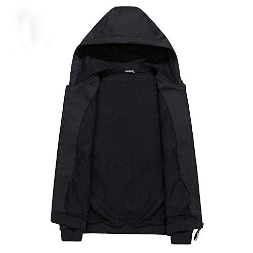 Coulisse Cardigan Cappuccio Unita Sottile Shopping Black Uomo Easy Da Cappotto Tinta Go E In Con q0fx4RFw