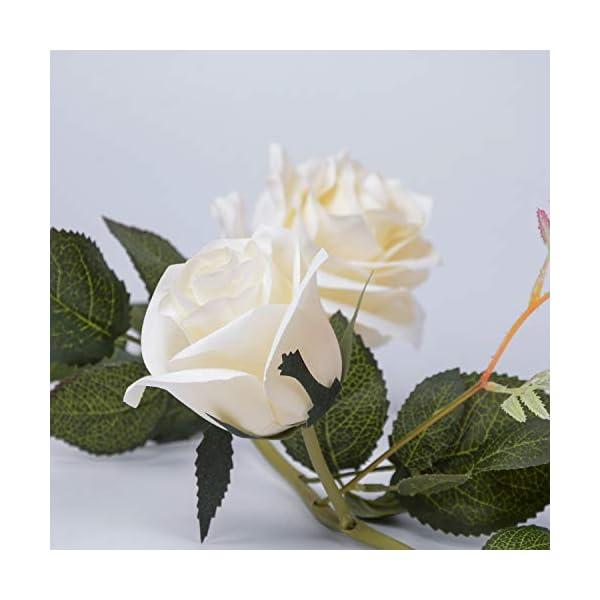 LUSHIDI-59Ft-Artificial-Rose-Vine-Silk-Flower-Garland-Hanging-Vines-Home-Outdoor-Wedding-Arch-Garden-Wall-DecorPack-of-1
