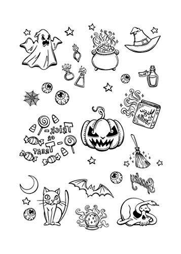 Halloween Luminous Tattoo Ghost for Kids Fake Tattoo Witch Glowing in Dark Waterproof Temporary Tattoo Stickers,L6