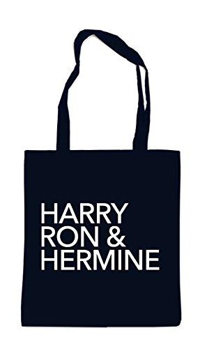 Harry Ron & Hermine Bag Black