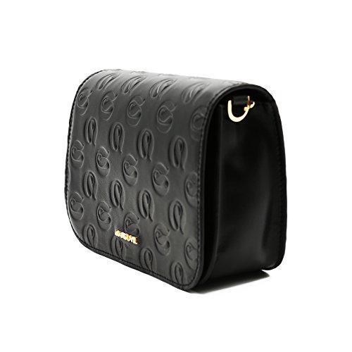 MANSUVIL donne) cuoio unica borsa, incline borsa, catena di borsa, lembo borsa, borsa, cuoio