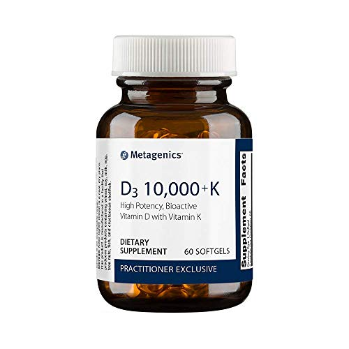 Metagenics D3 10,000 with K2 Soft Gels, 60 Count