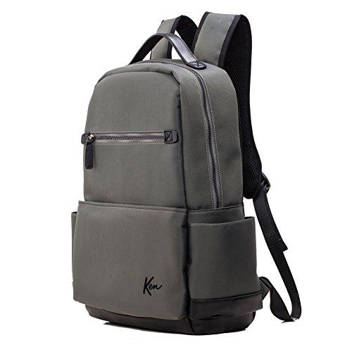 KEN Series Mens Camouflage Waterproof Backpack Casual Fashion Lightweight Travel Bag Handbag Shoulder Bags for Men black grey #BKBP017