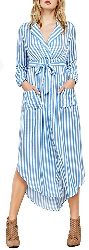 Buy belted maxi shirt dress - 6