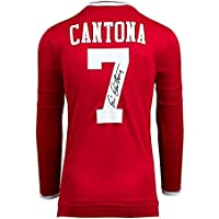 $574 » Eric Cantona Signed Manchester United Shirt - Retro Number 7 Autograph - Autographed Soccer Jerseys