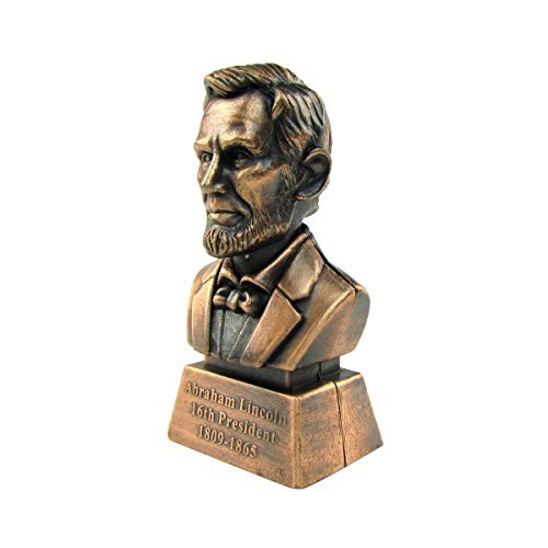 Bronze Metal Abe Lincoln Statue Pencil Sharpener for sale  Delivered anywhere in USA
