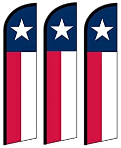 3viento, Swooper, mariposas, plumas, banderas Banner Texas por misión banderas