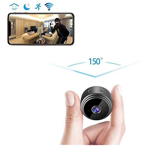 Spy Camera, Wireless Hidden WiFi Camera Nanny Cam Mini WiFi Security Camera with Motion Detecton Night Vision 1080P HD Monitoring Surveillance Camera for Home Office, Fit Indoor Outdoor