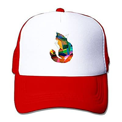 Cubism Cat Baseball Cap Adjustable Snapback Mesh Trucker Hat by Swesa