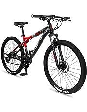 دراجة امبيزو جبلية للرجال مصنوعة من خليط معدني مقاس 27.5 انش من سبارتان، بلون احمر