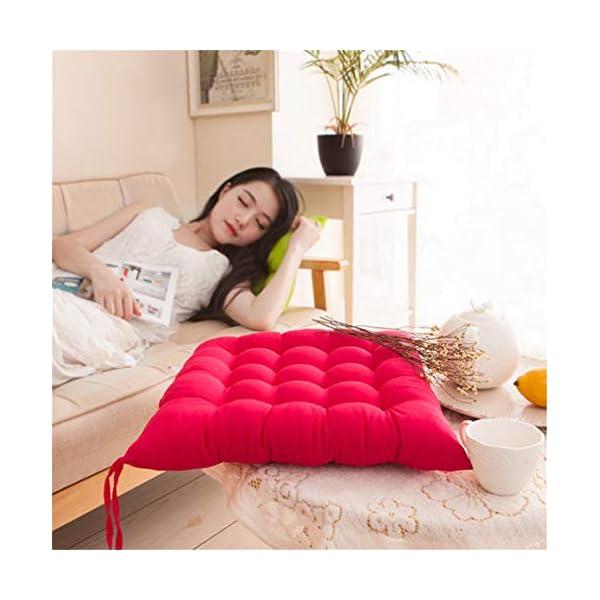 AGDLLYD Cuscino per Sedia, Cuscini per Giardino, per Dentro o Fuori,40x40x5 cm Cuscini da Sedia Trapuntati,Disponibile… 7 spesavip