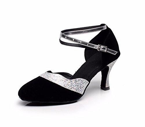 Misteriosa baile negro de baile Zapatos Sandalias zapatos con de de Latina latina la suela suave mujer hembra FqwXFZra