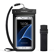 MoKo Universal Waterproof Phone Case with Armband & Neck Strap for Smartphones & Accessories Up to 6 Inch