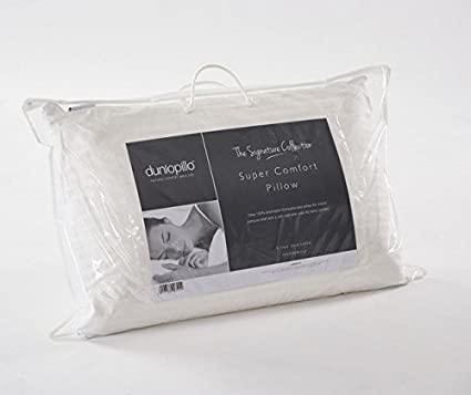 Dunlopillo Super Comfort Full látex almohada firme, color blanco, 71 x 40 x18 cm