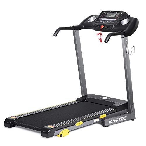 MaxKare Folding Treadmill w/Incline Electric Motorized Running Machine 17'' Wide Tread Belt, LCD Display and Cup Holder Easy Assembly with 15 Preset Programs Perfect for Home Use