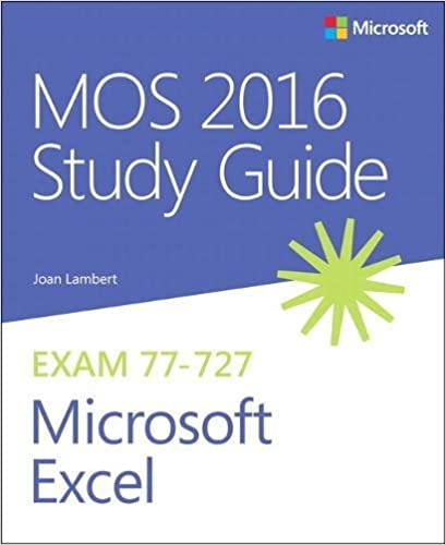 MOS 2016 Study Guide for Microsoft Excel (MOS Study Guide): Joan ...