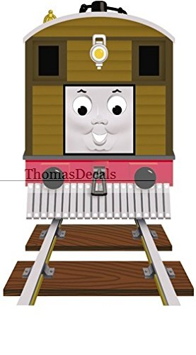 Thomas The Tank Wall Border - 6 Inch Toby the Tram Engine No. 7 Thomas the Tank Engine & Friends Removable Wall Decal Sticker Art Home Decor 4 inches wide by 6 inches tall