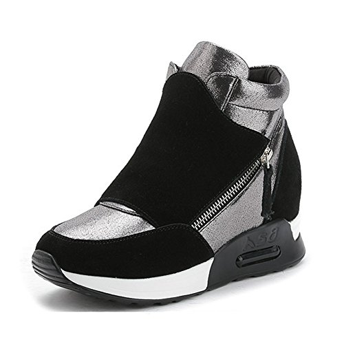 GIY Women Fashion High Top Sneaker Platform Wedge Increased Height Wedge Platform Casual Sport Shoes B01MQ25Q3W Parent e967c9