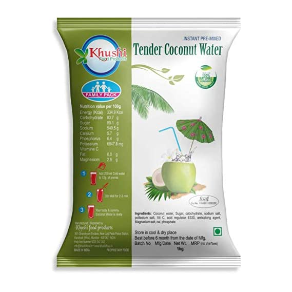 Khushi Food Products Instant Coconut Water Powder 1 Kg