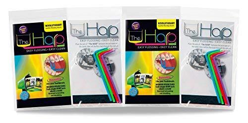 The Harp Orthodontic Reusable Flosser 4 Pack Multipack