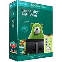 Kaspersky Anti-virus 3PC 1Year version 18, Windows 10/8/8.1, Windows Based Desktop & Laptops Smart phone with free Mobile security