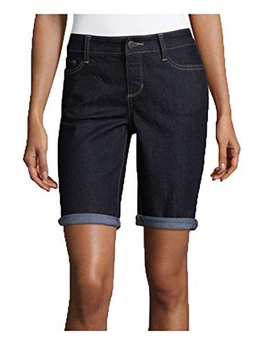 R1893 Women's Bermuda Jean Shorts. Size: 14. Color: Dark Rinse.