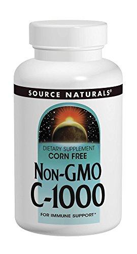 SOURCE NATURALS C Corn Free Non-Gmo 1000 Mg Tablet, 120 Count