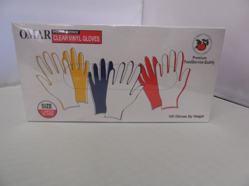 Clear Vinyl Gloves Pack Large