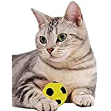 Fine commodities-Pet toys Foam Soccer Balls Cat Toys (Red, green, yellow, blue, 12)