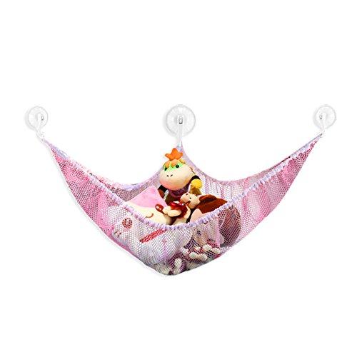 - Fashionclubs Plush Toys Storage Net Organizer Hammock (180x120x120cm, Pink)