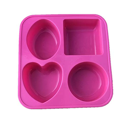 Inditradition 4 in 1 Designer Fruit Cake, Cupcake, Muffin Pan Mould (Silicon) | Round, Square, Oval, Heart Shape (Assorted Colour) Price & Reviews