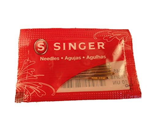 10 Singer Needles 2045 Size 90/14 Yellow Flat Shank