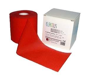 Elastus 72841 - Rollo de venda elástica fina y adhesiva (20 m x 8 cm), color rojo