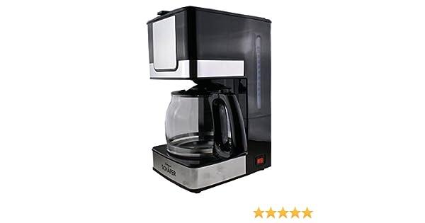 Cafetera eléctrica de acero inoxidable, volumen para 10 - 12 tazas ...