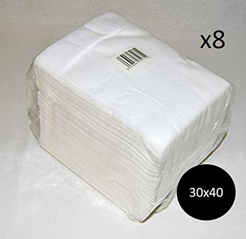Toallas Spun-Lace Blancas 30x40 800 Unidades: Amazon.es: Belleza
