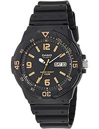 Men's 'Classic' Quartz Resin Casual Watch, Color:Black...