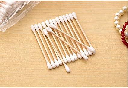 1/Pack 100Stk kentop Cotton fioc in legno Ovatta supporto doppia testa monouso Cotton fioc Make Up Traeger pulizia incenso
