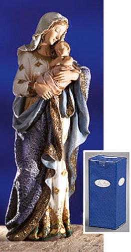 Religious 23 Inch Blessed Virgin Mary Madonna and Infant Jesus Christ Child Church Figure Statue by Christian Brands