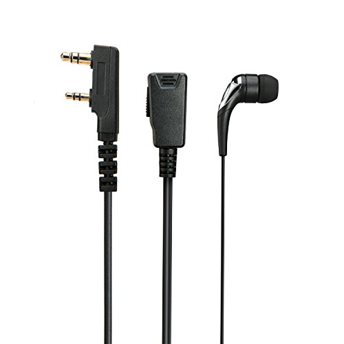 Sinhin Radio Earpiece mic - Detachable G Shape Ear Hang Headset with PTT and MIC Soft Ear Hook for 2 PIN Kenwood HYT Two Way Radio earpiece(K Head) ()