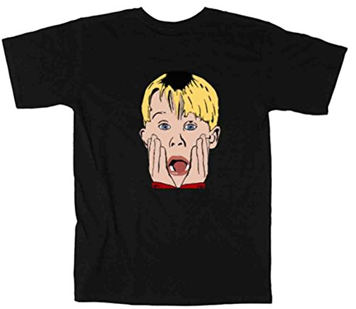 - The Silo BLACK Home Alone Face T-Shirt YOUTH