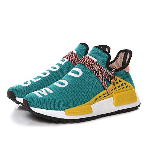 Corsa Donna Scarpe Giallo E Verde Ginnastica Fitness Traspirante Uomo Sportive r1 Nmd Sneakers Da Mesh ApY0pB